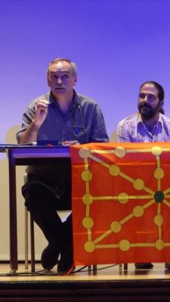 Ángel Rekalde, en un momento de sus interesantes intervenciones (Argazkia: I. Larramendi)