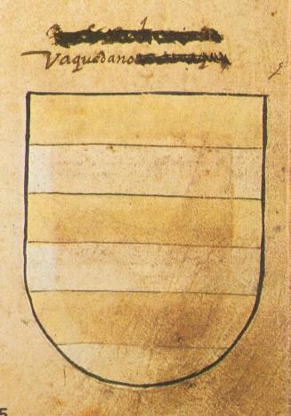 """Escudo de Armas del linaje de los Baquedano. Fuente: """"Libro de Armeria del Reino de Navarra"""" D.F.N., 1982"""
