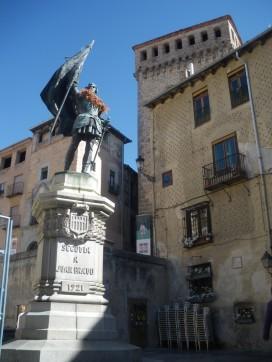 Monumento a Juan Bravo, líder comunero de Segovia (Fuente: I. Larramendi)