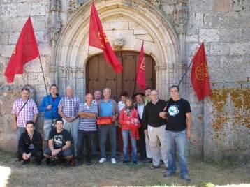 Santa Eulalia de Agés elizaren aurrean (Fuente: Martin Ttipia Kultur Elkartea)