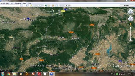 Urbasa-Lokitz (Iturria: Google Earth)
