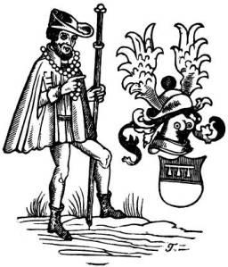 Arnold von Harff, erromes moduan jantzita, 1860ko argitalpen baten arabera (Iturria: http://www.fanaticus.org/discussion/showthread.php?t=14503)