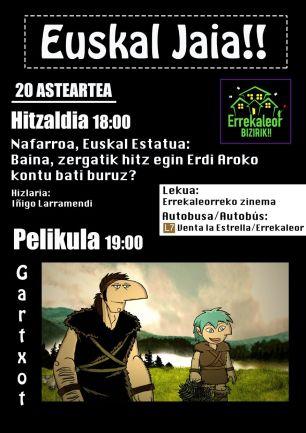 Uno de los carteles publicados por Errakeleor Bizirik para publicitar su Euskal Jaia