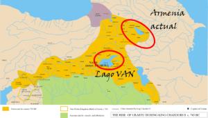 Extensión geográfica máxima del Estado de Urartu (Fuente: Wikipedia)