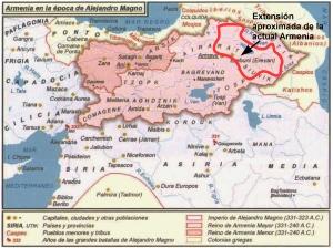 Armenia, en la época de Alejandro Magno  (Iturria: