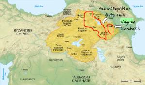 Armenia durante el periodo Bagratuní (869-1045) (Iturria: Wikipedia)