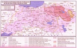 """Propuestas de territorialidad para Armenia en los tratados (Iturria: """"Historia del Pueblo Armenio"""", de Ashot Artzruní)"""