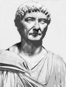 Busto del emperador Diocleciano. En el interior de su palacio se construyó la parte vieja de Split (Croacia) (Iturria: www.jlgimenez.es):