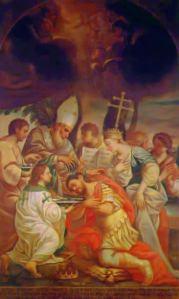 Bautismo del rey Tirídates III (iturria: Wikipedia)