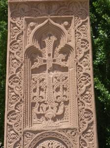 "Un ""kharchar"", elemento característico de la arquitectura armenia (Argazkia. I. Larramendi)"