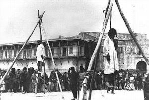 Ahorcamiento de armenios (Iturria: Armeniapedia)