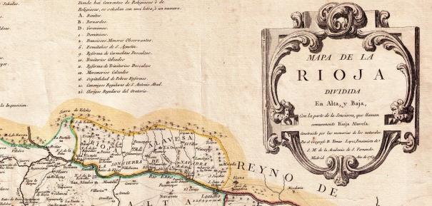 """1769ko mapa honetan, oraindik """"Sonsierra de Navarra"""" izenak irauten duela ikus daiteke (Iturria: www.zonu.com)."""