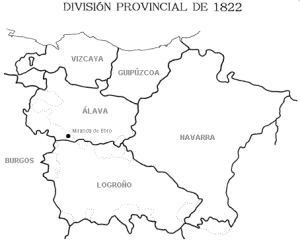 1822an Logroñoko Probintzia osatzeko egitasmoa (Iturria: Wikipedia)