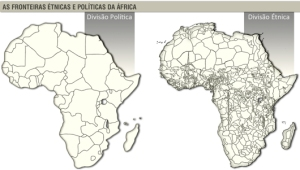 Fronteras étnicas y políticas de África (Iturria: https://profwladimir.blogspot.com.es)