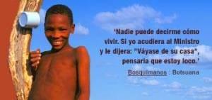 Dignidad bosquimana (Iturria: www.survival.es)