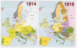 Cambios en el mapa de Europa tras la I Guerra Mundial (It.: http://debates.coches.net)