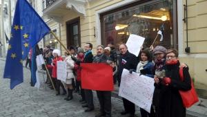 Protestas en Tallinn por la detención de un activista ruso (It.: http://news.err.ee)