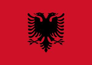 """Las águilas de la bandera de Albania, """"el país de las águilas"""" (It.: www.banderas-mundo.es)"""