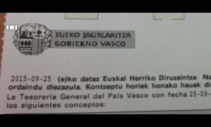 ¿Euskal Herriko Diruzaintza = Tesorería del País Vasco? (Iturria: Iñigo Larramendi)