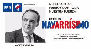 "La Navarra ""Foral"" y ""Española"" (Iturria: Twitter)"