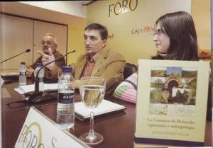 """Rufino Gómez Villar durante la presentación de su libro """"La comarca de Belorado"""" (Iturria: errioxa.com)"""