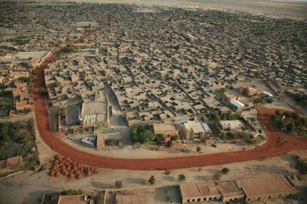 Vista aerea de Tombuctú (Fuente: http://archnet.org)