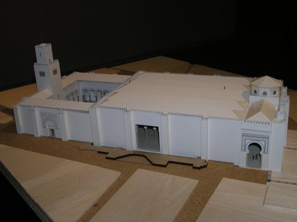 Maqueta de la Mezquita Mayor de Tudela (fuente: www.navarra.es)