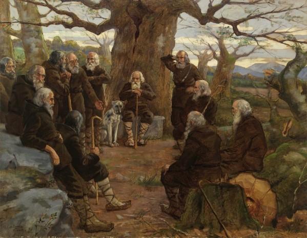 """""""Batzarre junto al árbol de Jauregizar"""" (1912) de Javier Ciga Echandi Fuente: www.navarra.es"""