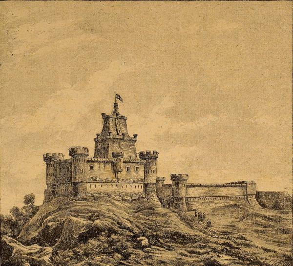 "El castillo de Gebara/Guevara Por J. Vehil para ""El Estandarte Real"" (1891) Zumalakarregi Museoa"