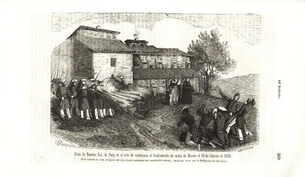 """Fusilamientos de """"El Puy"""" (Estella/Lizarra), el de febrero de 1838 (Fuente: """"Galería Militar Contemporánea"""", Tomo II. 1846)"""