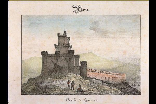 El castillo de Gebara/ Guevara (Obra original perteneciente a los fondos bibliográficos de la Fundación Sancho el Sabio Fundazioa (Vitoria-Gasteiz))